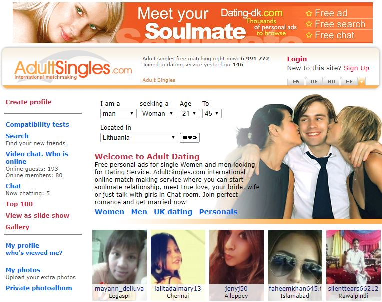 adultsingles reviews